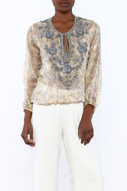 Taj by Sabrina Crippa Silk Printed Blouse - Product Mini Image