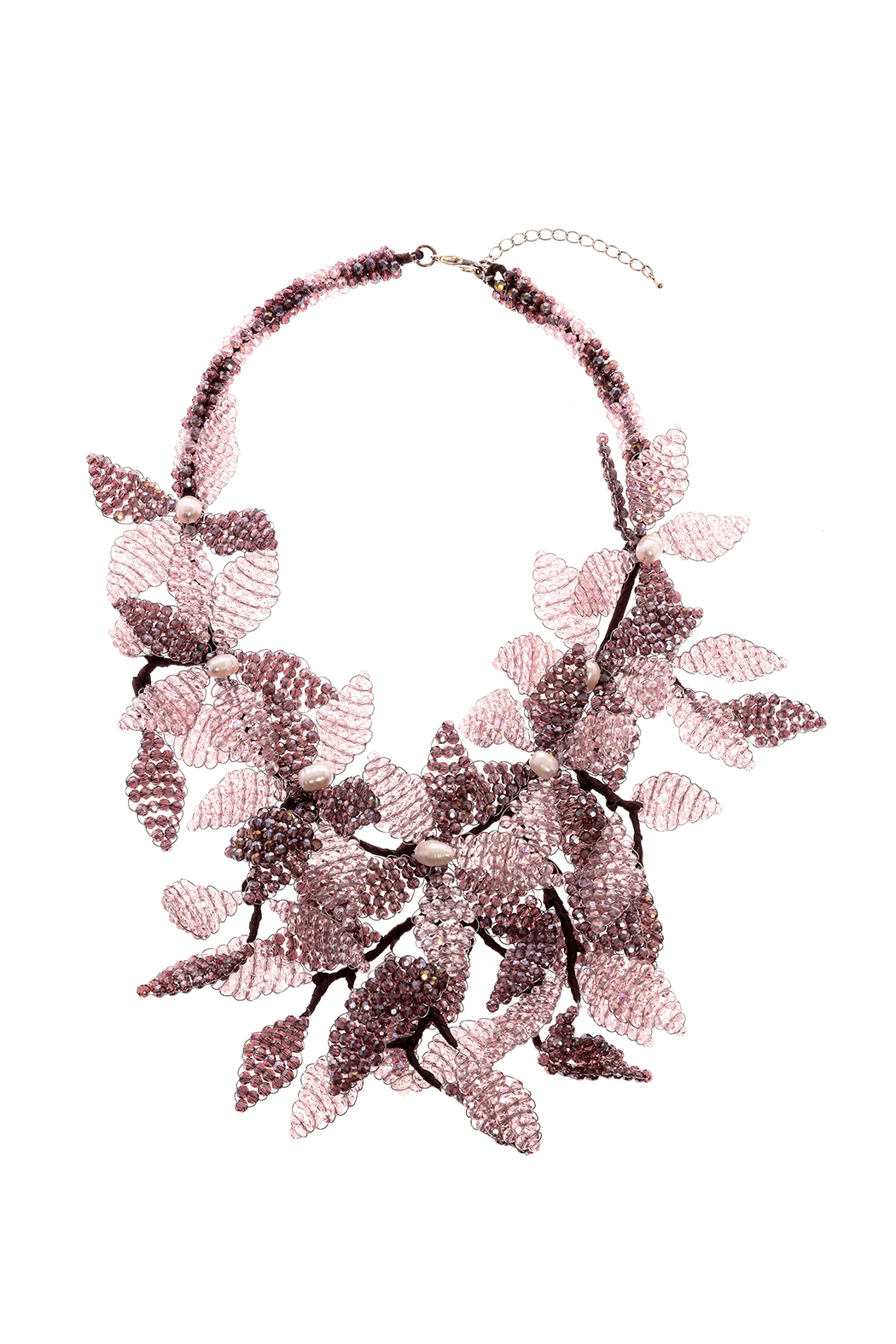 Takai by Angela Beracha Cluster Statement Necklace - Front Cropped Image
