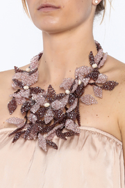 Takai by Angela Beracha Cluster Statement Necklace - Back cropped