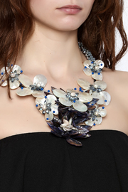 Takai by Angela Blue Agate Statement Necklace - Back cropped