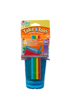 boon by Tomy Take & Toss 10oz Spill-Proof Straw Cups - Alternate List Image