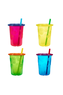 Shoptiques Product: Take & Toss 10oz Spill-Proof Straw Cups