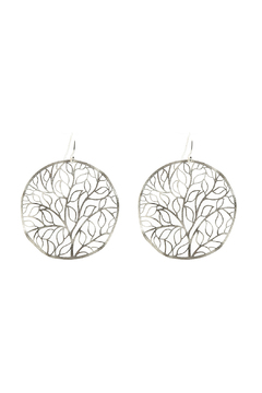 Shoptiques Product: Cutout Leaf Earrings