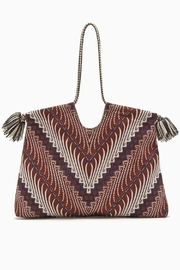 Ulla Johnson Tala Indigo Tote - Front full body