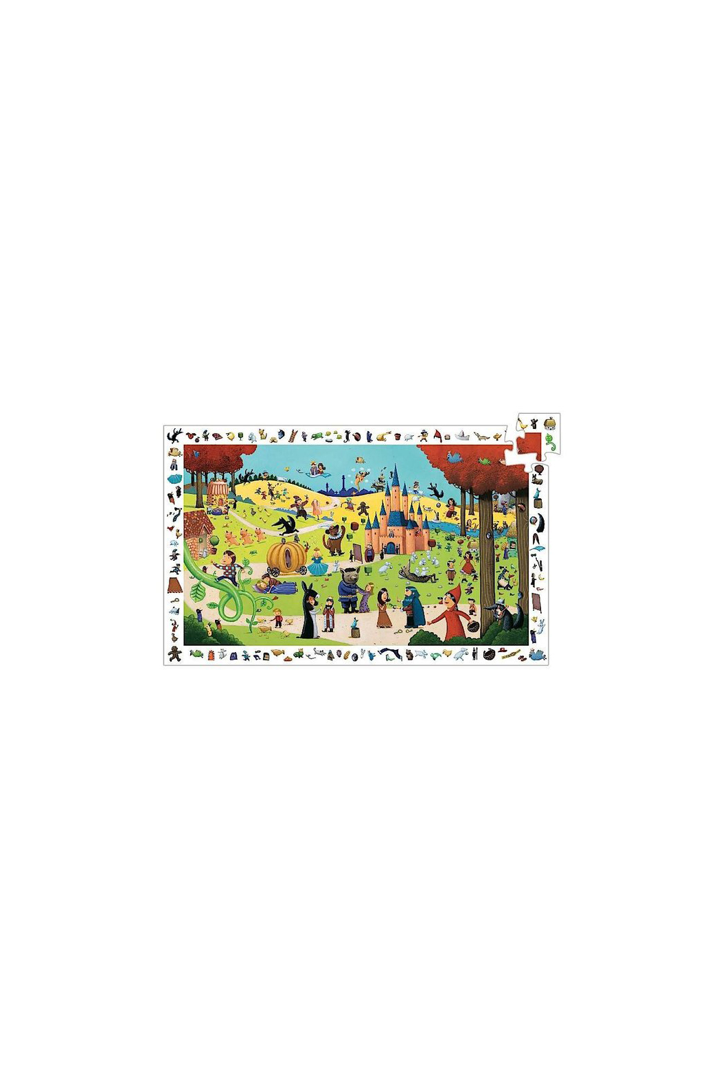 Djeco Tales 54 Piece Observation Puzzle - Front Full Image
