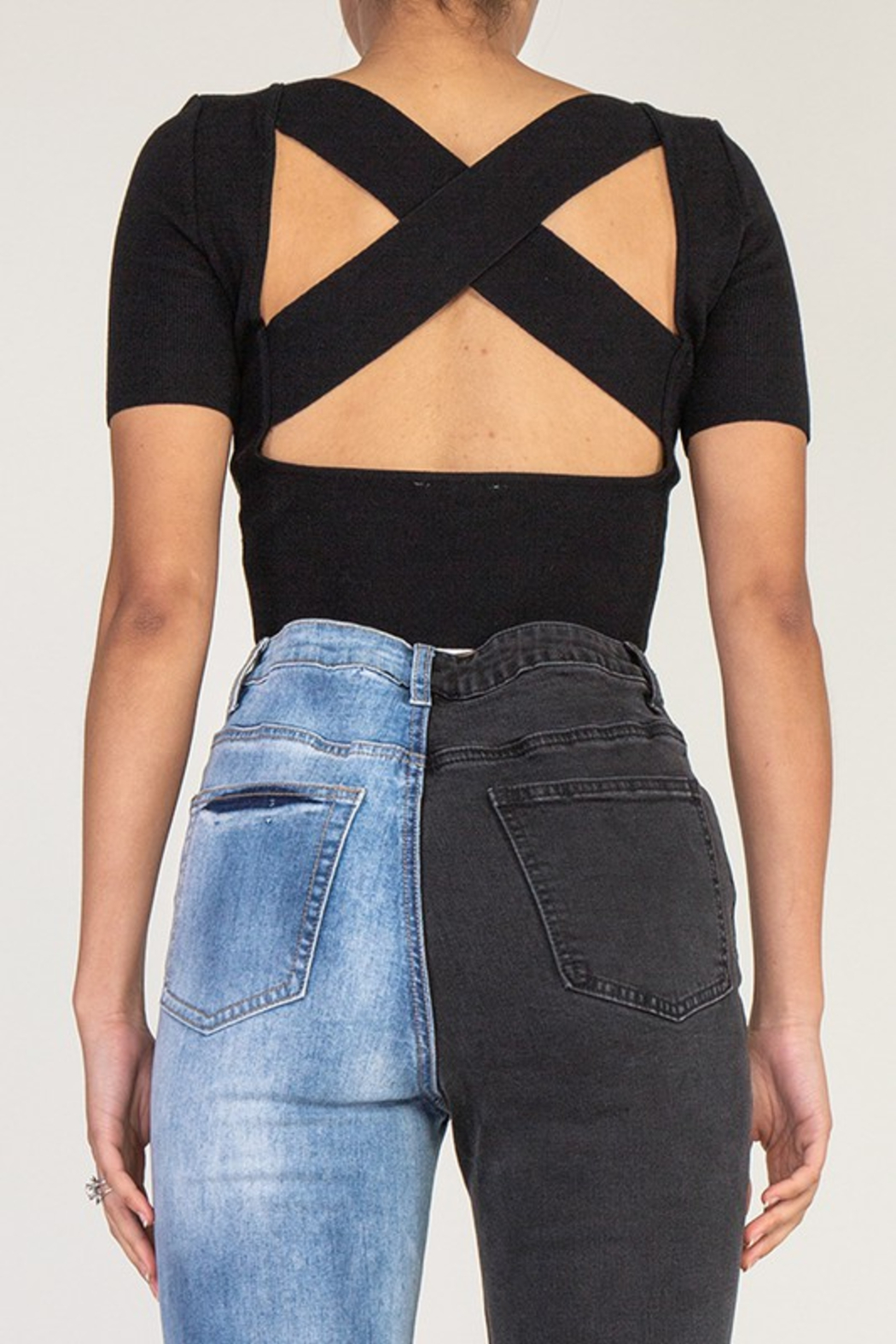 R+D  Talia X Back Top - Front Cropped Image
