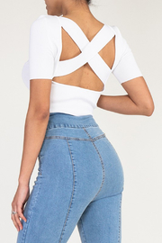 R+D  Talia X Back Top - Front cropped