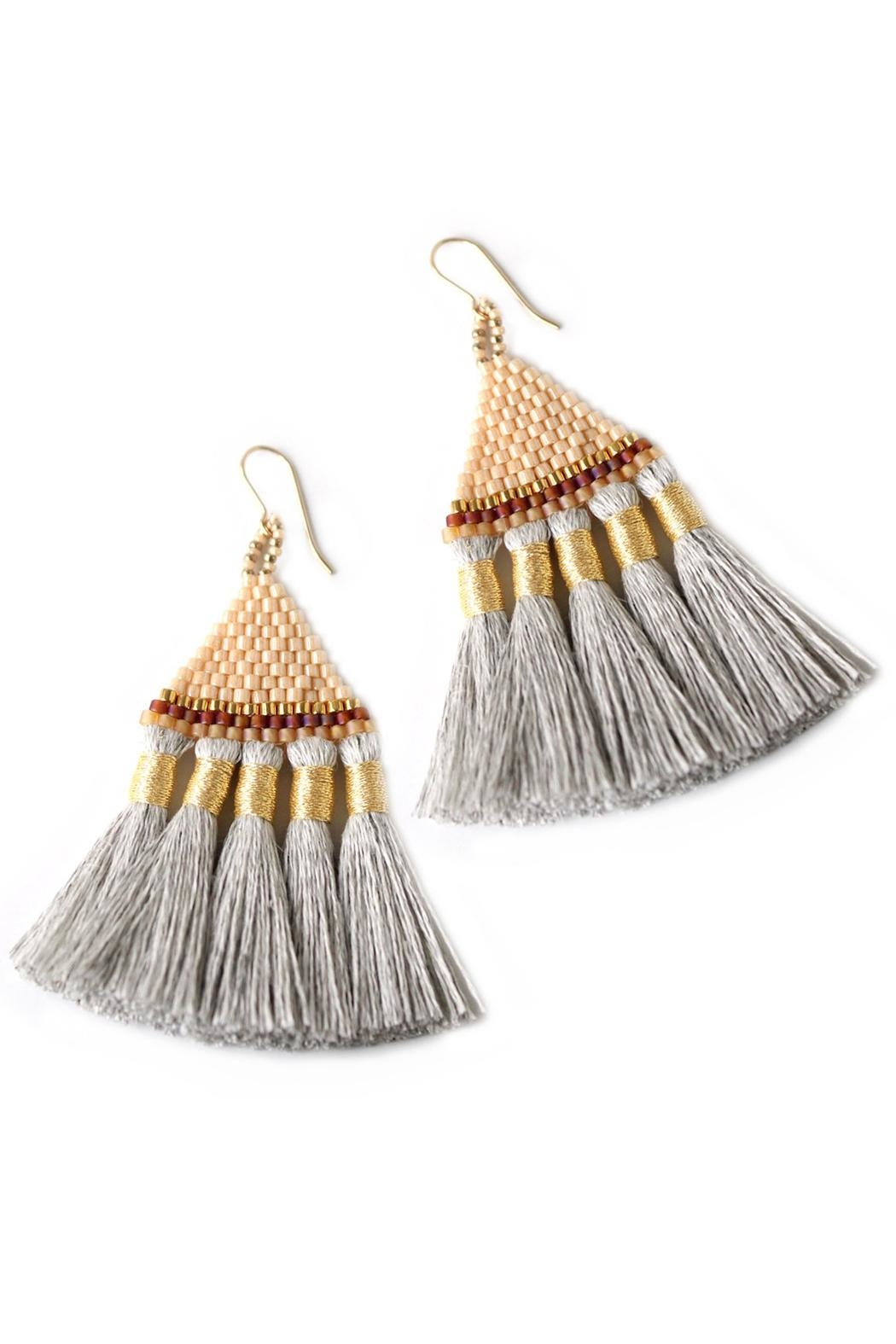 Bluma Project Talitha Fringe Earrings - Front Cropped Image