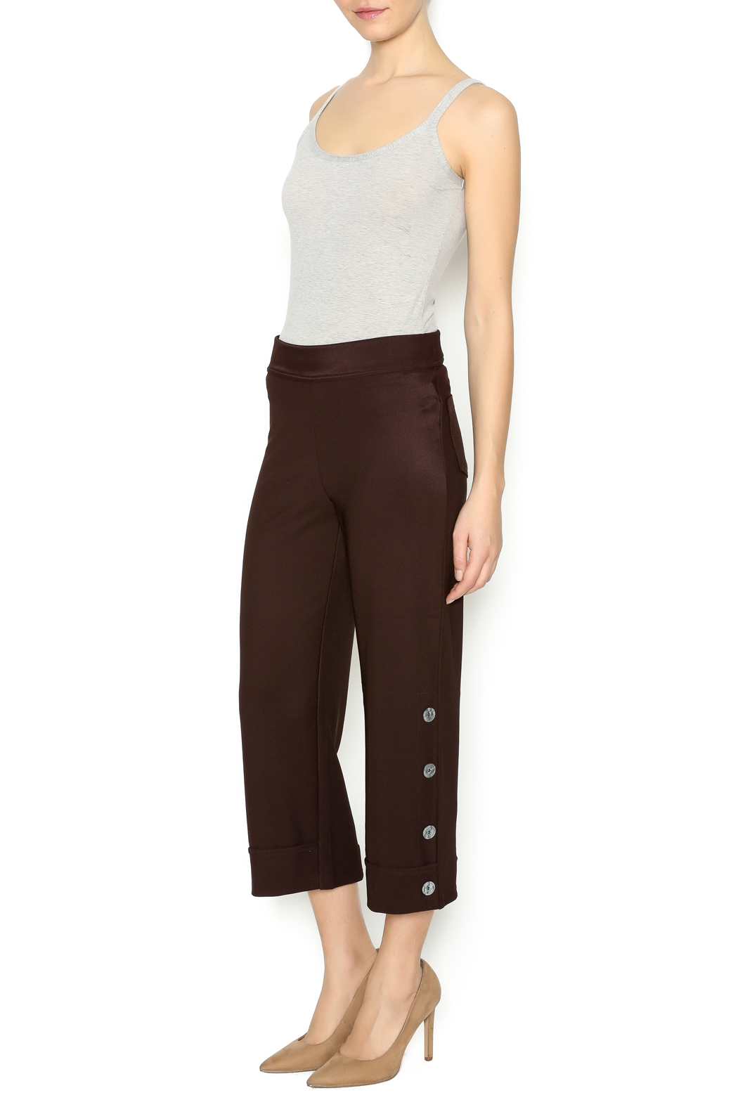 Talk of the Walk 4-Button Boot Pant - Front Full Image