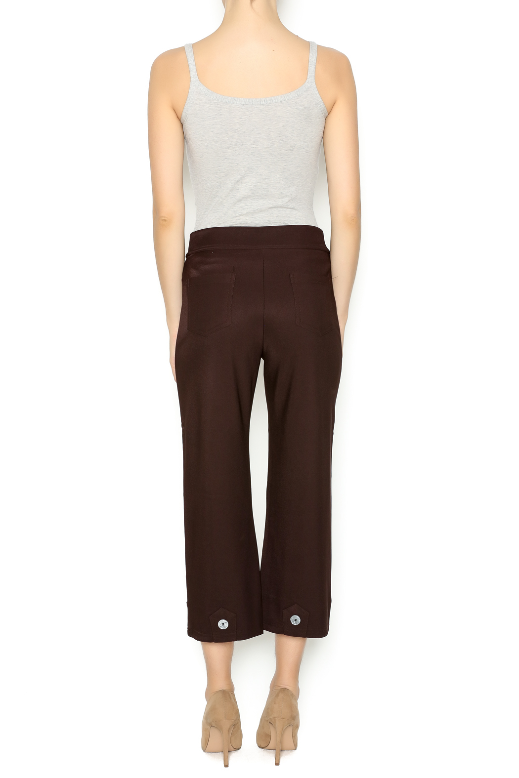 Talk of the Walk 4-Button Boot Pant - Side Cropped Image