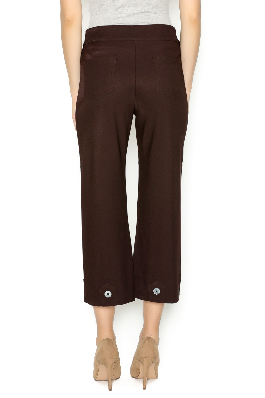 Talk of the Walk 4-Button Boot Pant - Back Cropped Image