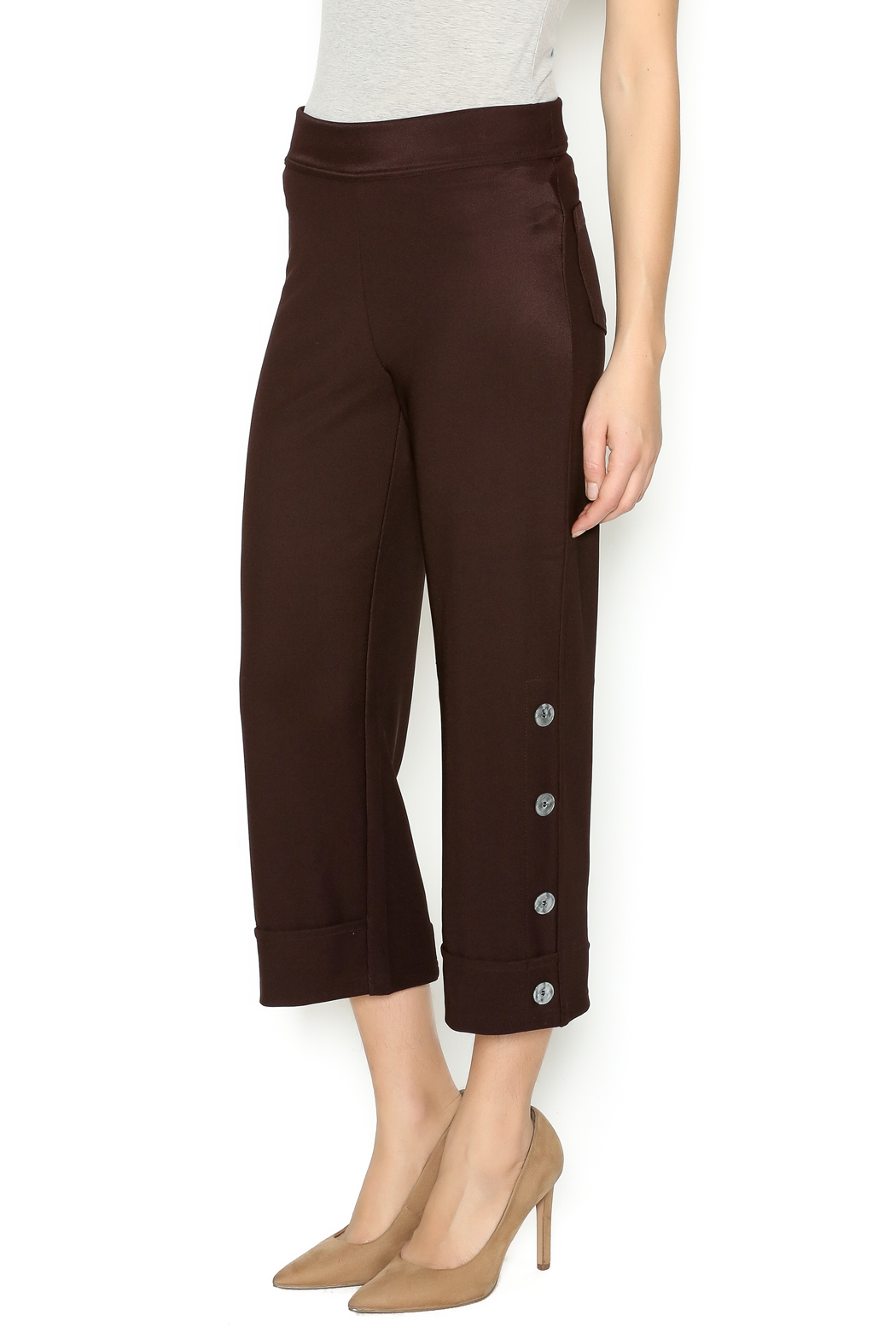 Talk of the Walk 4-Button Boot Pant - Front Cropped Image