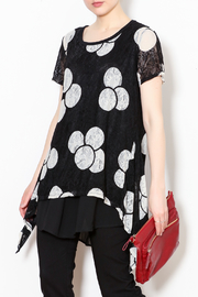 Talk of the Walk Circles Lace Top - Product Mini Image