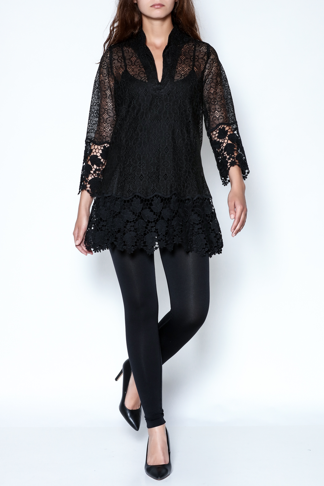 Talk of the Walk Crochet Lace Blouse - Side Cropped Image
