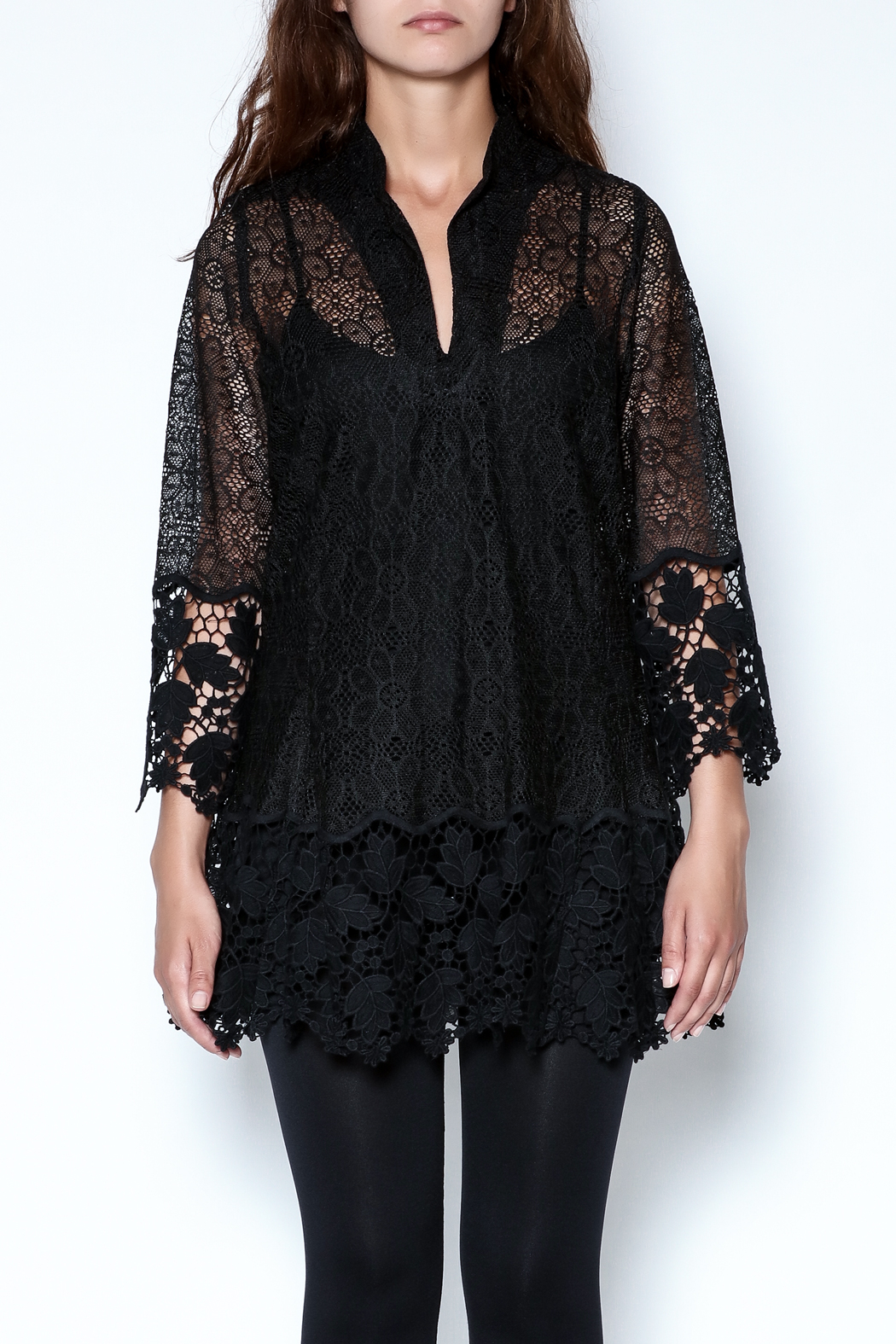 Talk of the Walk Crochet Lace Blouse - Front Full Image