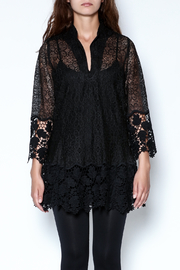 Talk of the Walk Crochet Lace Blouse - Front full body