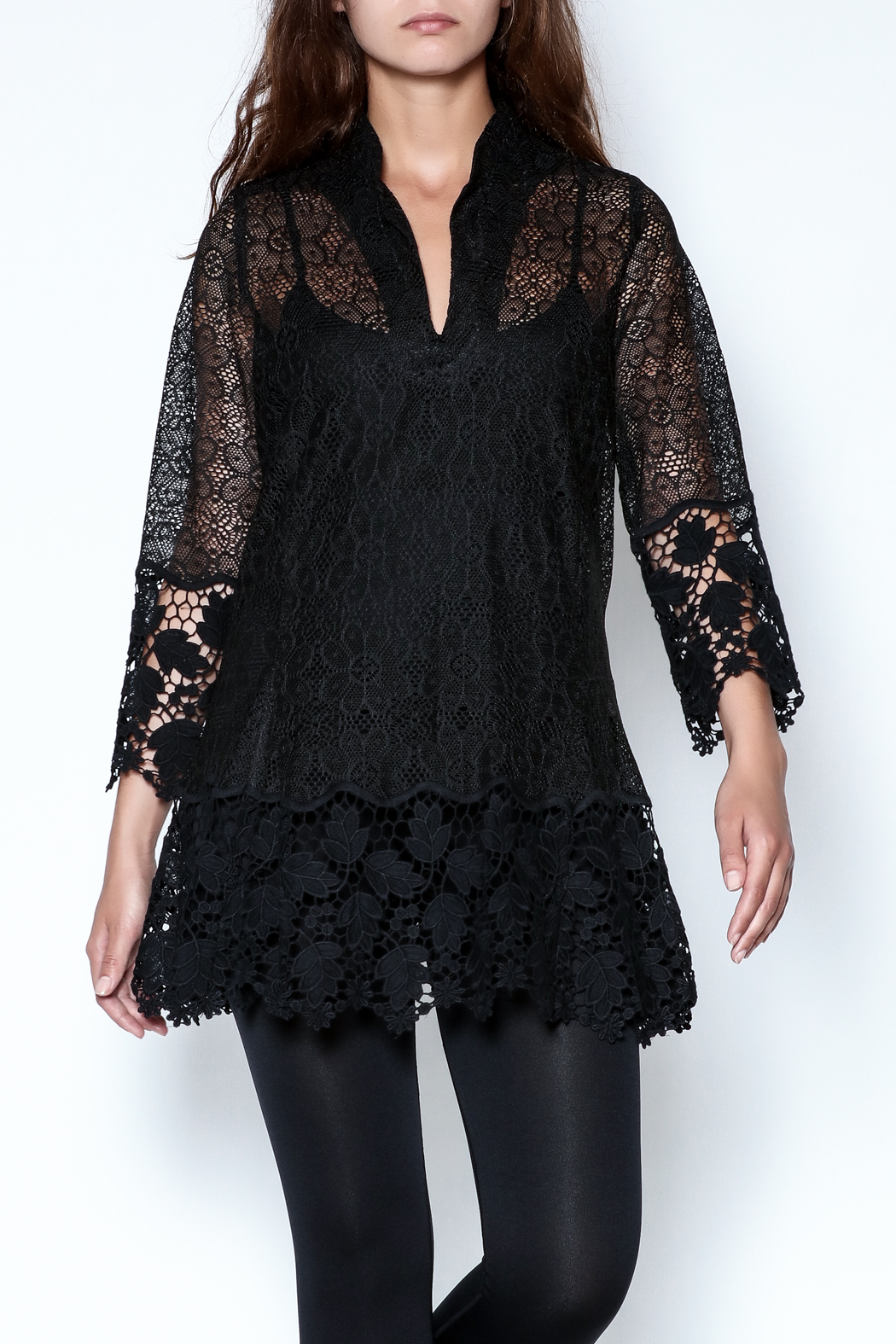 Talk of the Walk Crochet Lace Blouse - Main Image