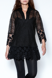 Talk of the Walk Crochet Lace Blouse - Front cropped