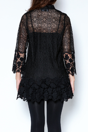 Talk of the Walk Crochet Lace Blouse - Back cropped