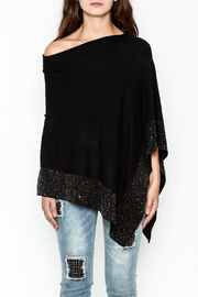 Talk of the Walk Crystal Ribbed Poncho - Front full body