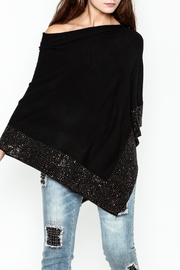 Talk of the Walk Crystal Ribbed Poncho - Product Mini Image