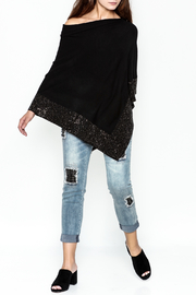 Talk of the Walk Crystal Ribbed Poncho - Side cropped