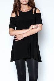 Talk of the Walk Cutworks Cold Shoulder Tunic - Product Mini Image
