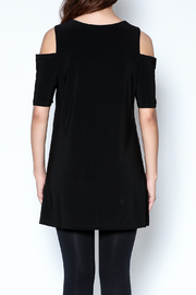 Talk of the Walk Cutworks Cold Shoulder Tunic - Back cropped