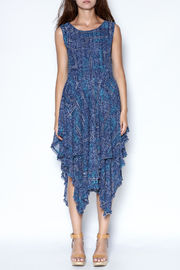 Talk of the Walk Denim Print Dress - Product Mini Image