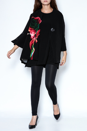 Talk of the Walk Digital Rose Jacket - Front full body
