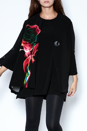 Talk of the Walk Digital Rose Jacket - Front cropped