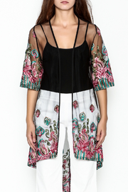 Talk of the Walk Embroidered Sheer Duster - Front full body