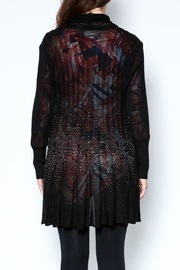 Talk of the Walk Floral Crystal Cardigan - Back cropped