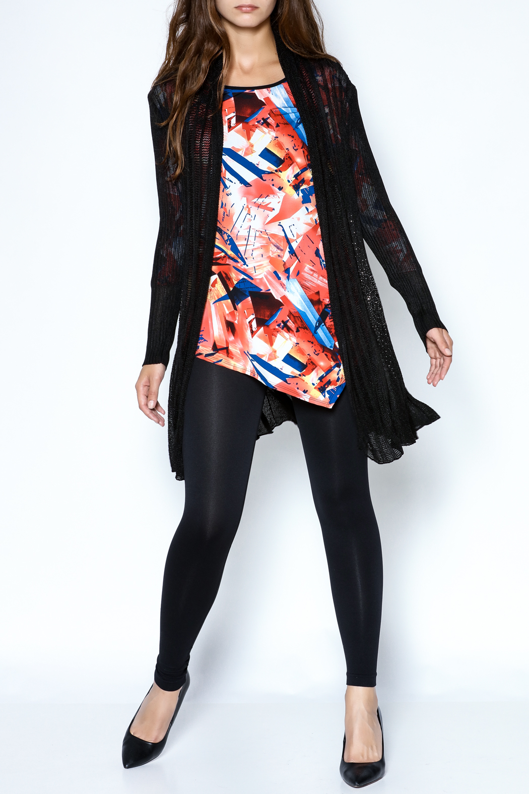 Talk of the Walk Floral Crystal Cardigan - Side Cropped Image