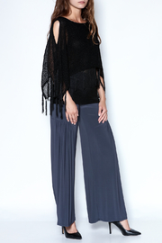 Talk of the Walk Fringe Capelet Sweater - Front full body