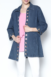 Talk of the Walk Grommet Swing Denim Jacket - Product Mini Image