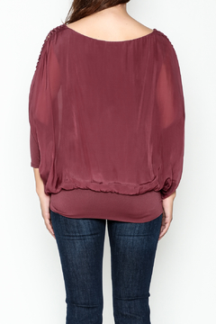 Talk of the Walk Ladder Sleeve Bubble Blouse - Alternate List Image