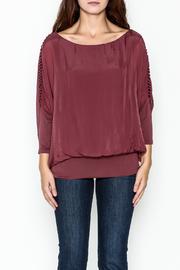 Talk of the Walk Ladder Sleeve Bubble Blouse - Product Mini Image