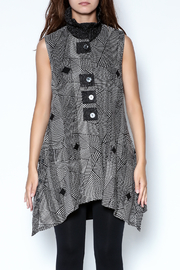 Talk of the Walk Optical Print Vest - Front cropped