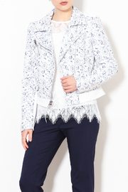 Talk of the Walk Paisley Moto Jacket - Front cropped