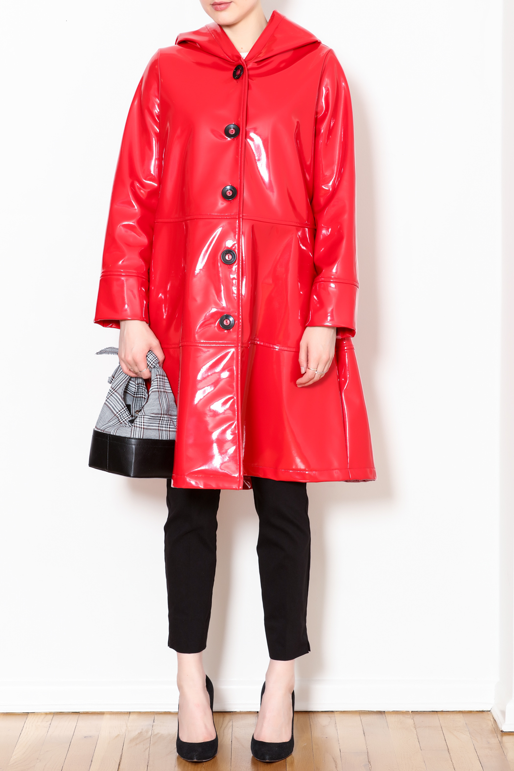 7f9ee238655 Talk of the Walk Patent Swing Raincoat from New Jersey — Shoptiques