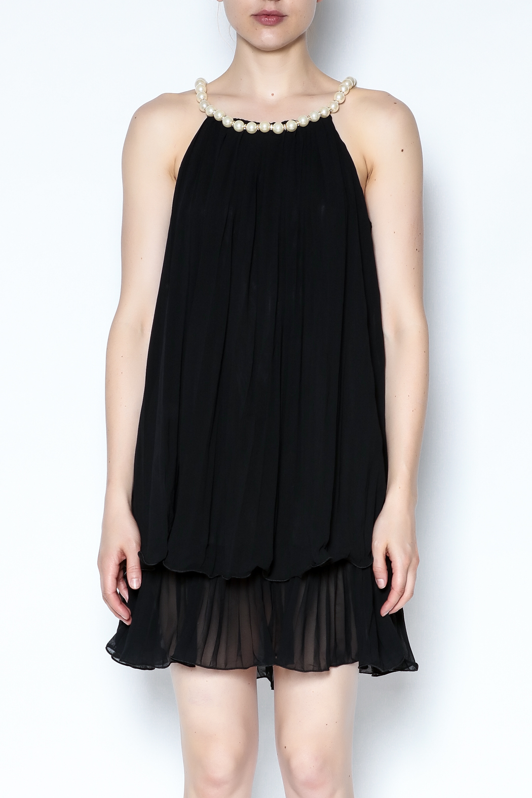 Talk of the Walk Pearl Neck Tunic - Front Full Image