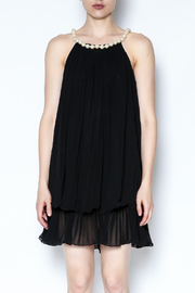 Talk of the Walk Pearl Neck Tunic - Front full body
