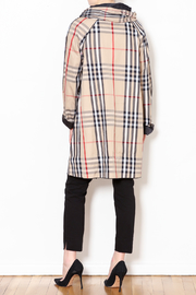 Talk of the Walk Plaid Reversible Raincoat - Back cropped