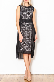 Talk of the Walk Pleated Cutworks Dress - Front full body