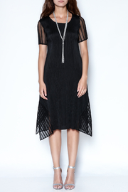 Talk of the Walk Pleated Illusion Dress - Front full body
