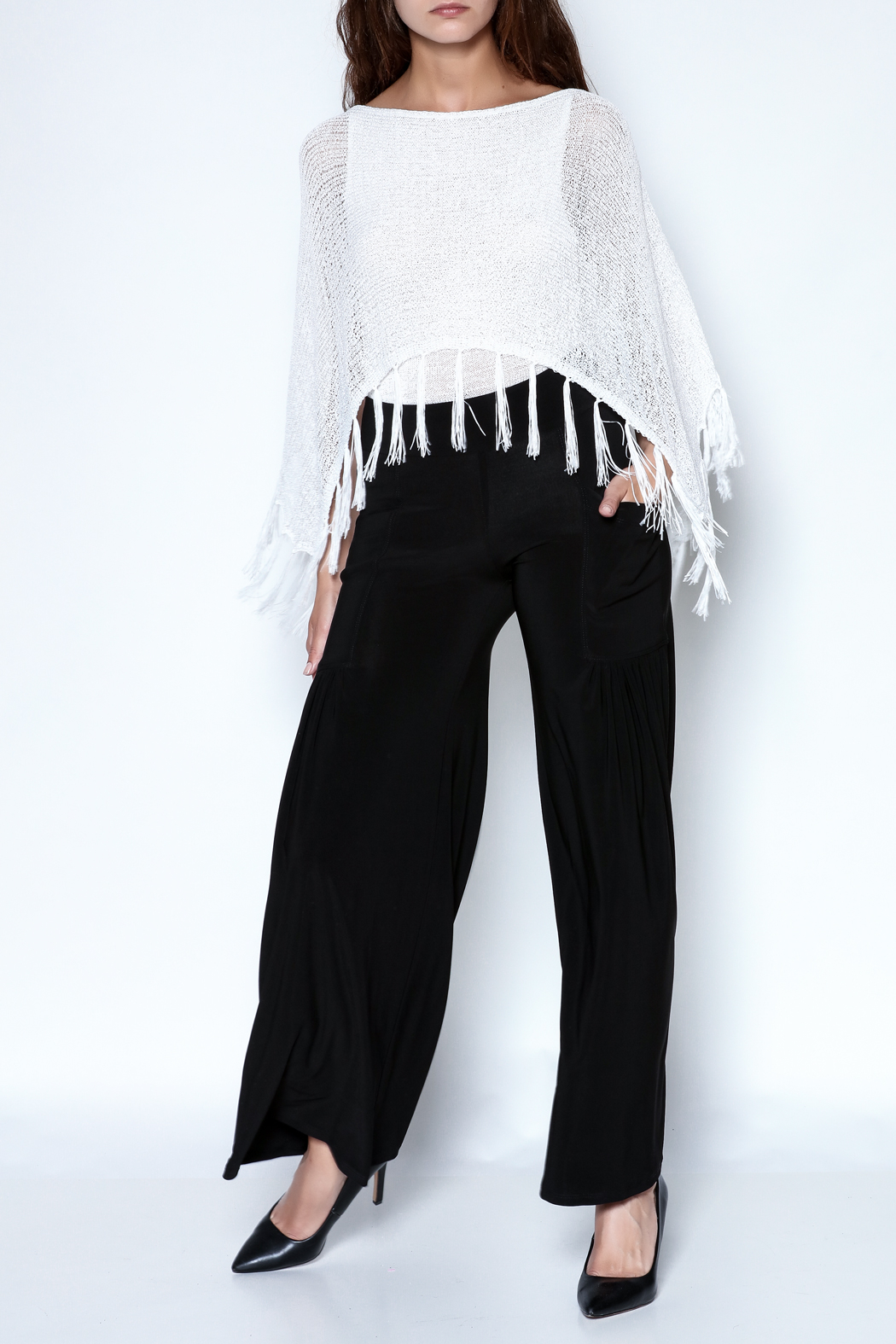 Talk of the Walk Pleated Pocket Palazzo - Front Full Image