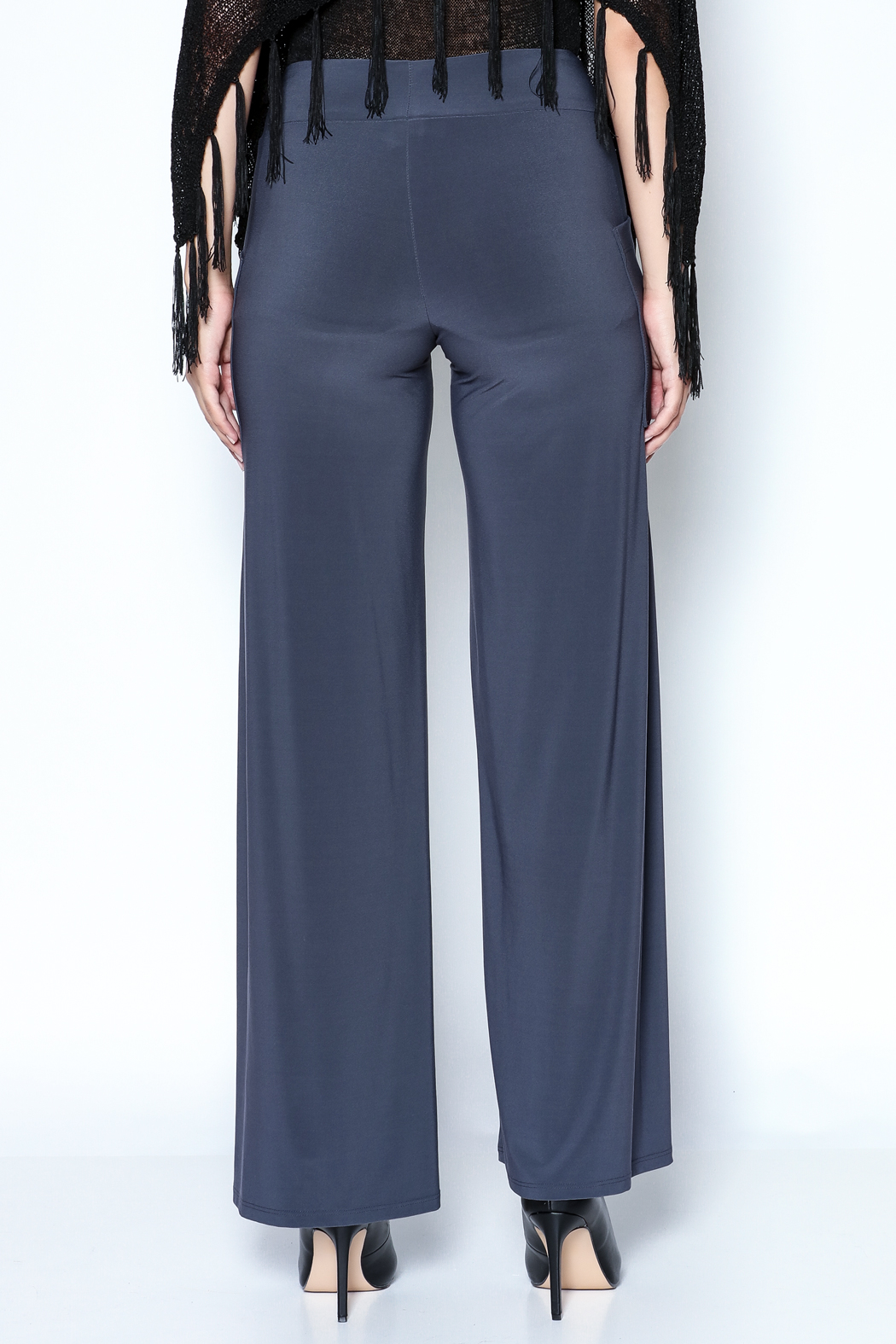 Talk of the Walk Pleated Pocket Palazzo - Back Cropped Image
