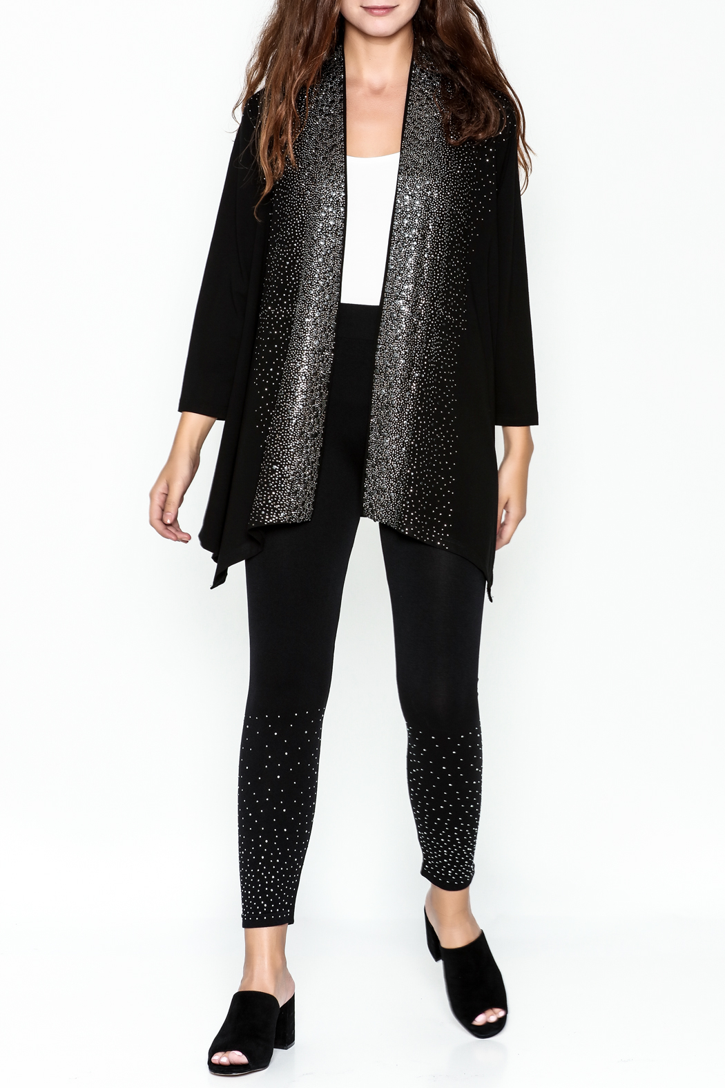 Talk of the Walk Scattered Crystals Cardigan - Side Cropped Image