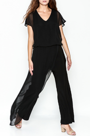 Talk of the Walk Sheer Overlay Jumpsuit - Product Mini Image